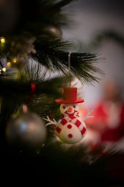 Close-up cute christmas ornament Free Photo