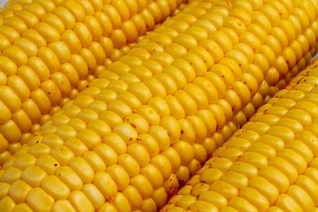 Close-up delicious corn cobs Free Photo