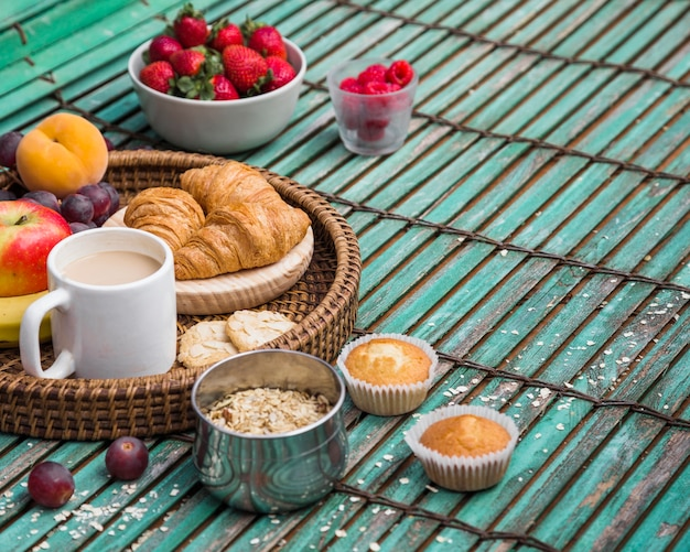 Close-up of delicious healthy breakfast Free Photo