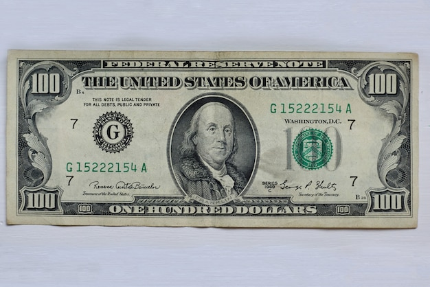 Close-up of a dollar banknote Free Photo