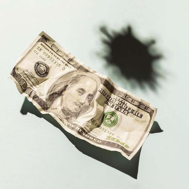Close up dollaro con copia spazio Foto Gratuite