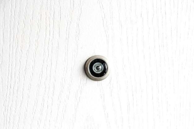 white wood door texture. Close Up Door Lens Peephole On White Wooden Texture Premium Photo Wood P