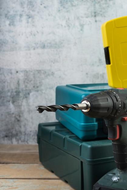 Close-up drilling machine Free Photo