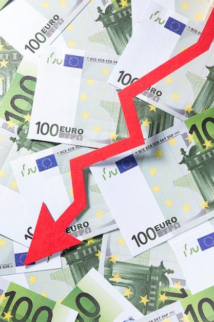 Chiudere la crisi economica con gli euro Foto Gratuite