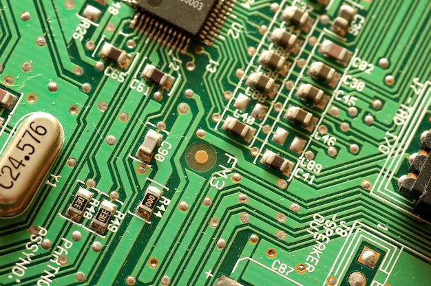 Close-up of electronic circuit Free Photo