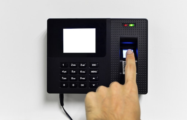Close-up of fingerprint reader Free Photo