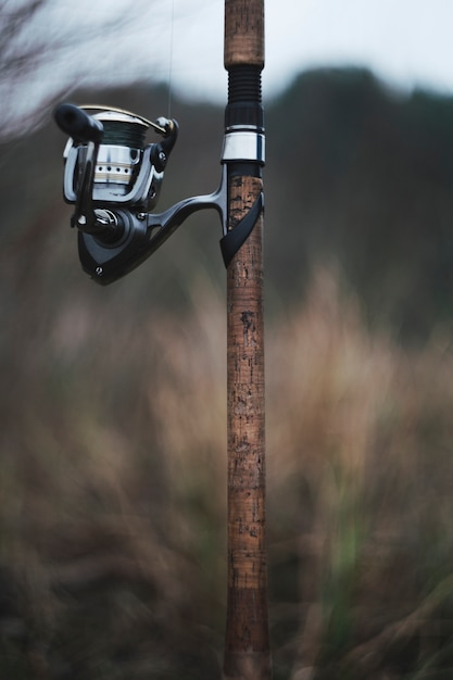 Close-up of a fishing rod against blurred background Free Photo