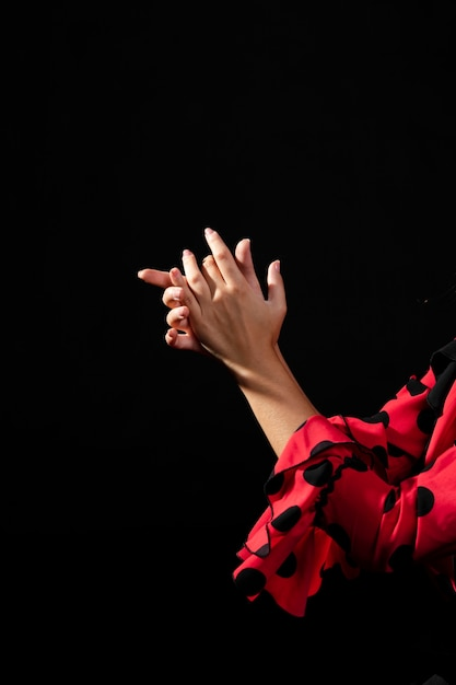 Close-up flamenca dancer clapping hands Free Photo