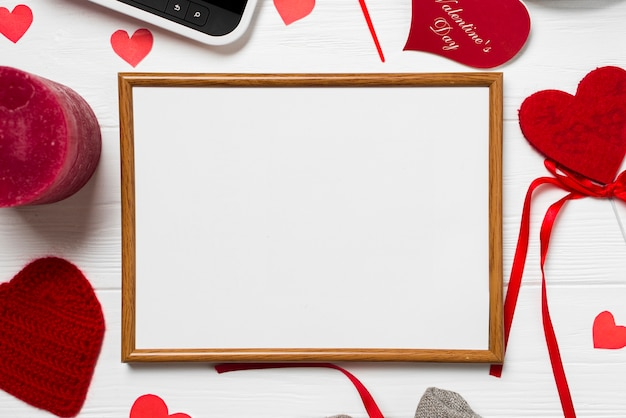 Close-up frame and Valentine\'s Day stuff Photo | Free Download