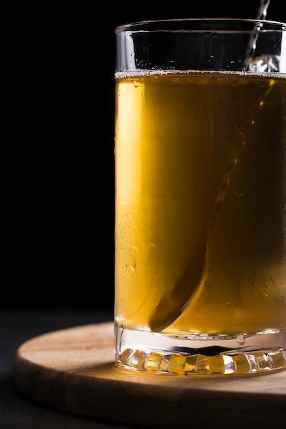 ビールのクローズアップガラス 無料写真