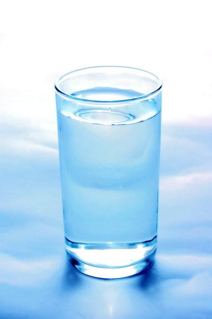 Close-up of glass of water Free Photo