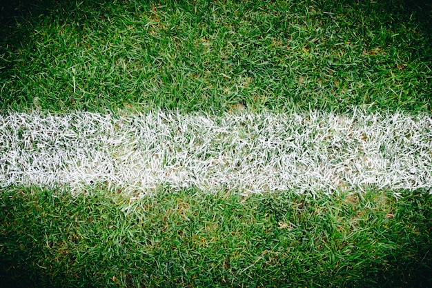 Close up of grass and marks on football or soccer field Premium Photo