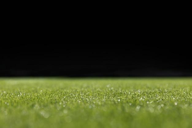 Close-up green football pitch Free Photo