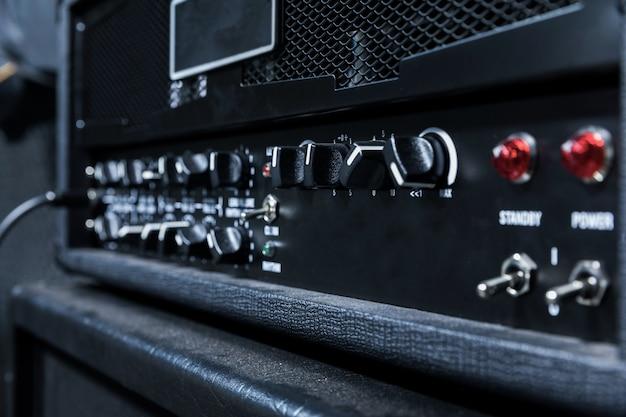 Close up guitar amplifier, Premium Photo