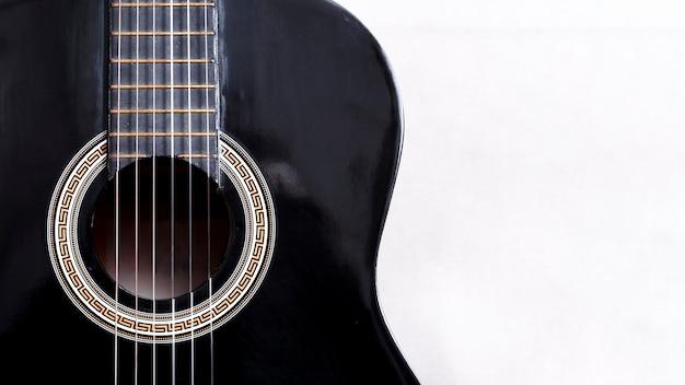 Close up of a guitar Free Photo