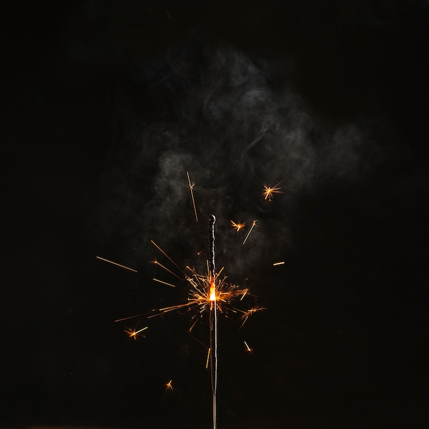 Close-up half-burnt sparkler Free Photo