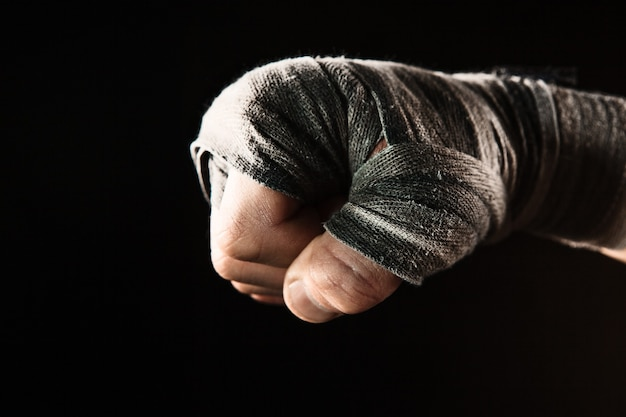 Close-up hand of muscular man with bandage Free Photo