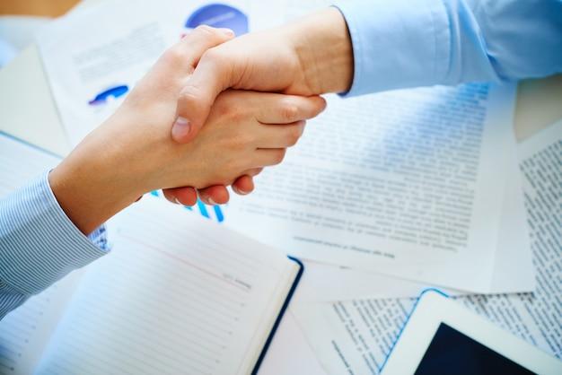 Close-up of a handshake Free Photo