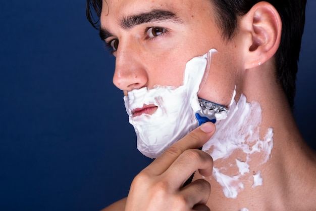 Close-up handsome male grooming Free Photo