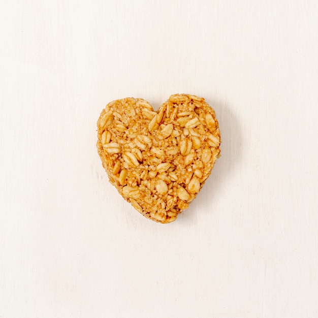 Close-up heart shape cereal Free Photo