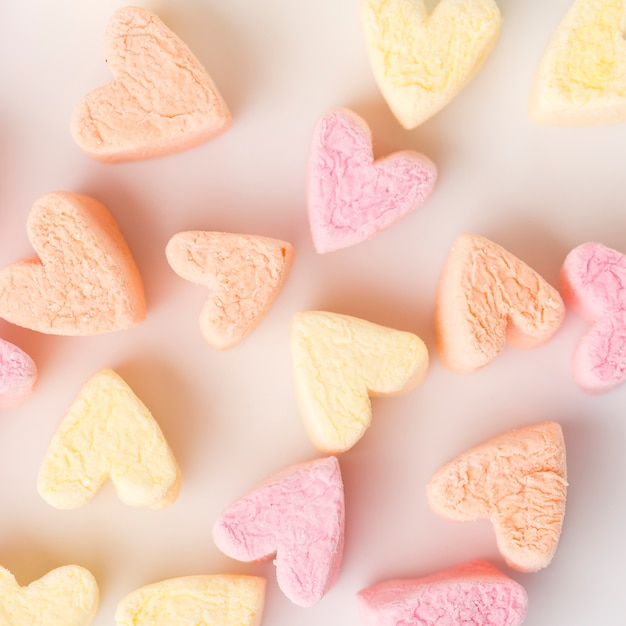 Close-up of heart-shaped candy Free Photo