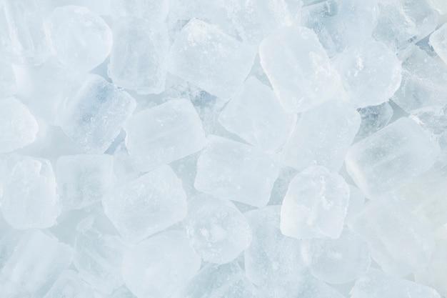 Крупный план кубиков льда Premium Фотографии