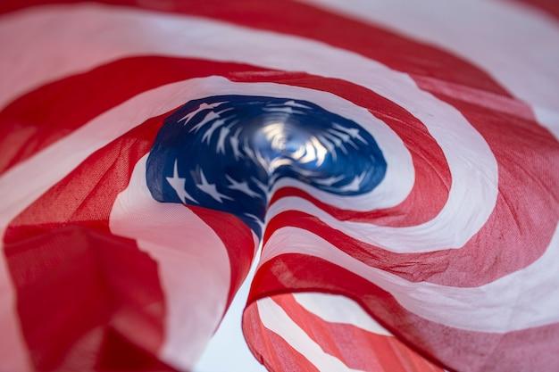 Chiuda sulla bandiera degli sua di festa dell'indipendenza Foto Gratuite