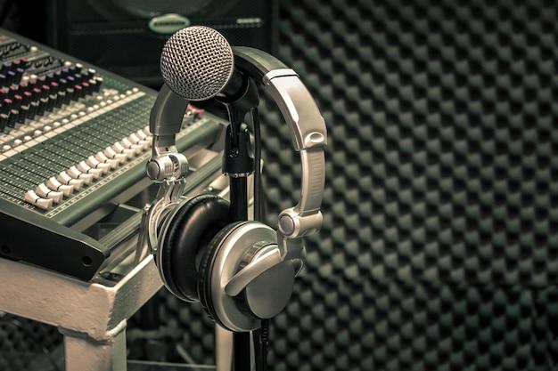 Close up instruments music background concept. Premium Photo