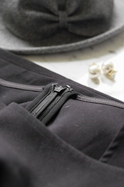 Close-up jacket with accesories Free Photo