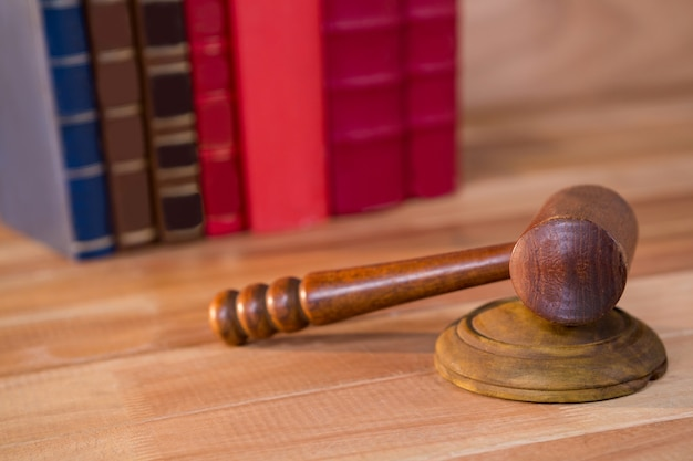 Close-up of judges gavel Free Photo