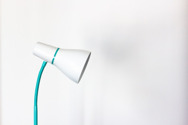 Close-up lamp table on white background Premium Photo