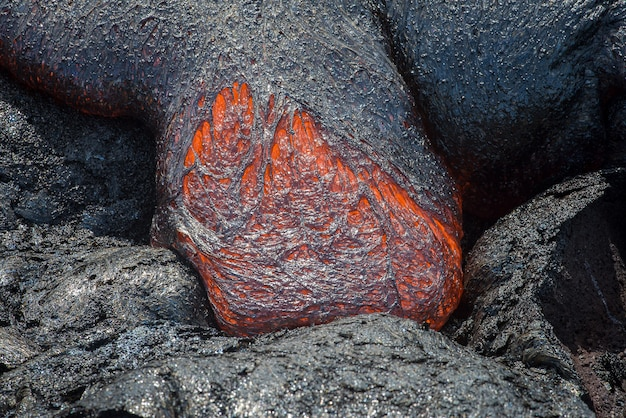 Close up lava flow in lava field Premium Photo
