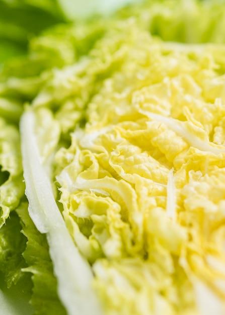 グリーンサラダのクローズアップの葉 無料写真