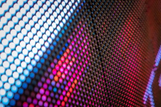Close up led blurred screen. Premium Photo