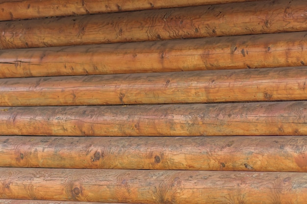 Close up of log wall as background Premium Photo