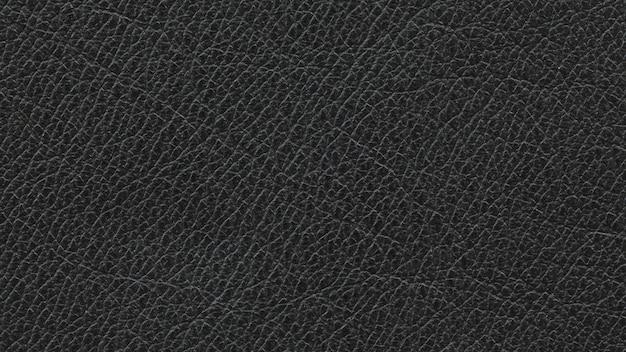 Close up, macro shot of natural black leather texture background Premium Photo