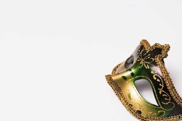 Close-up mask on white Free Photo