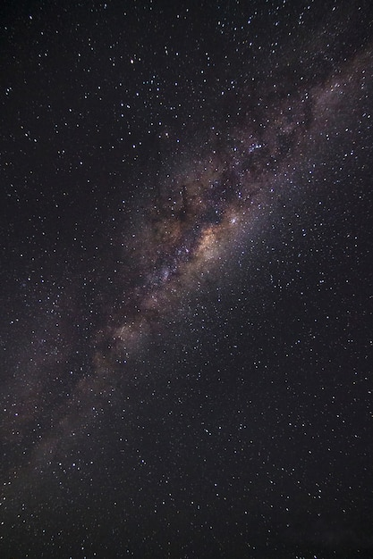 Close up milky way galaxy in the starry night Premium Photo