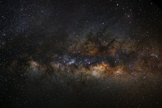 Close-up of milky way galaxy with stars and space dust in the universe Premium Photo