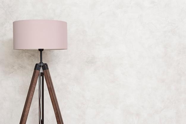 Close-up minimalist designer floor lamp Premium Photo