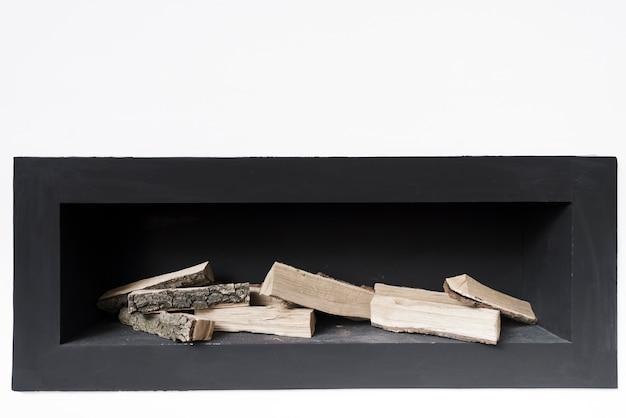 Close-up minimalist fireplace Free Photo
