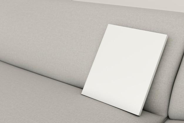 Макро минималистичный интерьер диван с рамкой Бесплатные Фотографии