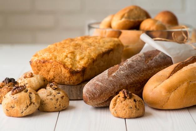 Закройте смесь хлеба Premium Фотографии