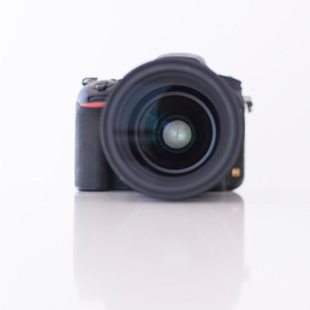 Close-up of a modern digital dslr camera Free Photo