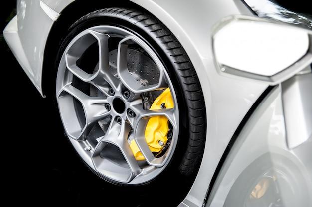 Close up of a modern sport wheel Premium Photo