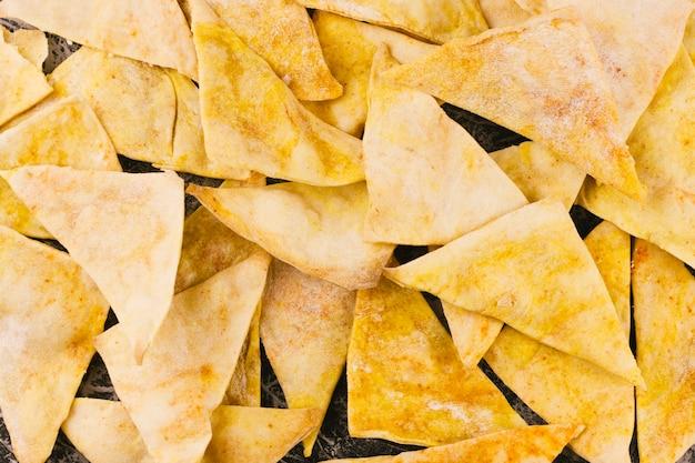 Close up nachos background Free Photo