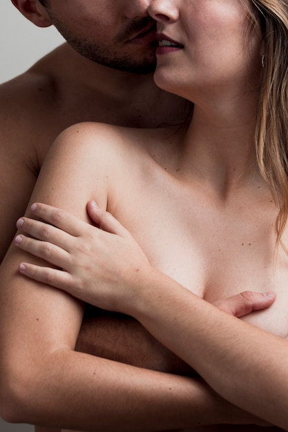 Close-up naked young couple Free Photo