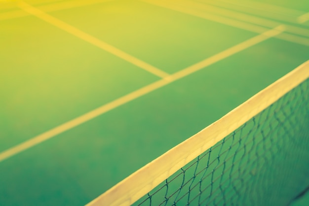 Close up of net in badminton court . ( filtered image processed Free Photo
