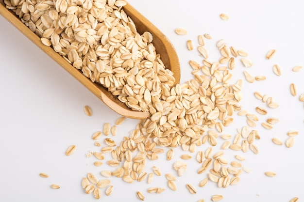 Close-up of oat flakes Free Photo