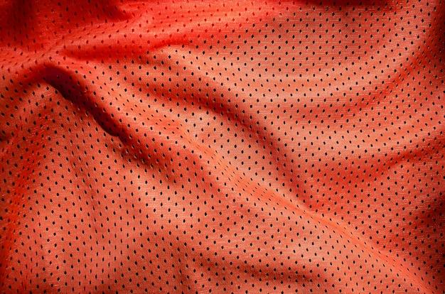 Крупным планом красные полиэстер нейлоновые шорты спортивной одежды Premium Фотографии
